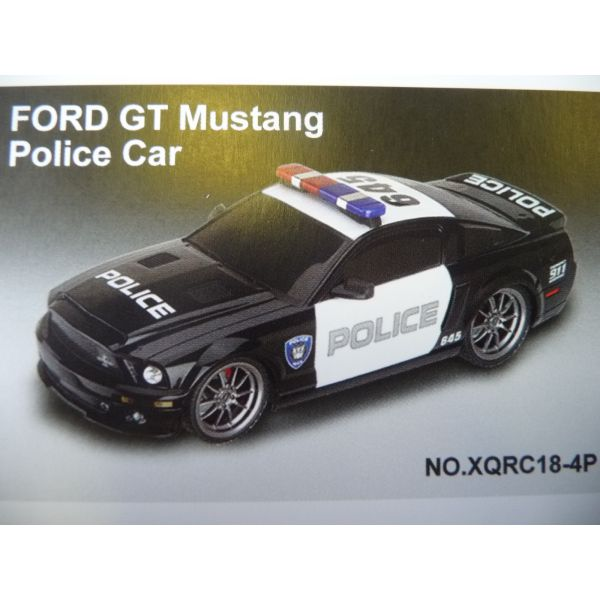 "Р/У.Машина ""FORD GT500 MUSTANG POLICE CAR"" 1:18"