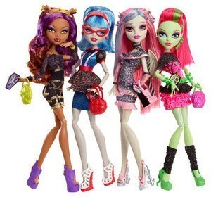 Набор из 4х Ghouls Night Out 4-Pack: Clawdeen, Ghoulia, Rochelle & Venus